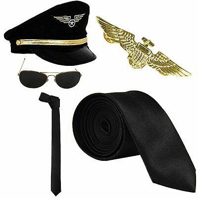 Air Force Adult Pilot Costume Kit Captain Wingman - Air Force Uniform Kostüme
