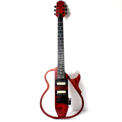 Musoo Brand portable travel electric guitar with detachable body