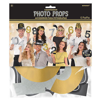 Countdown to Midnight Numbers New Year Photo Booth Photo Props Party - Photo Booth Decoration Ideas