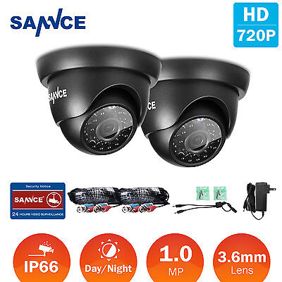 SANNCE 2x Dome 1500TVL 720P CCTV Camera In/ Outdoor Security Surveillance System Dome Outdoor Security System