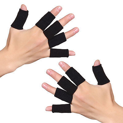 10x Fingerschutz Fingerbandage Gelenk Bandage Volleyball Handball Sport Bandage