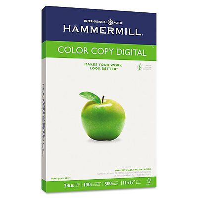 Hammermill Copy Paper 100 Brightness 28lb 11 x 17 Photo White 500/Ream 102541