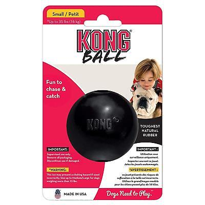 KONG Natural Rubber Ball Dog Toy Hole, Chew And Fetch - Size S, Black