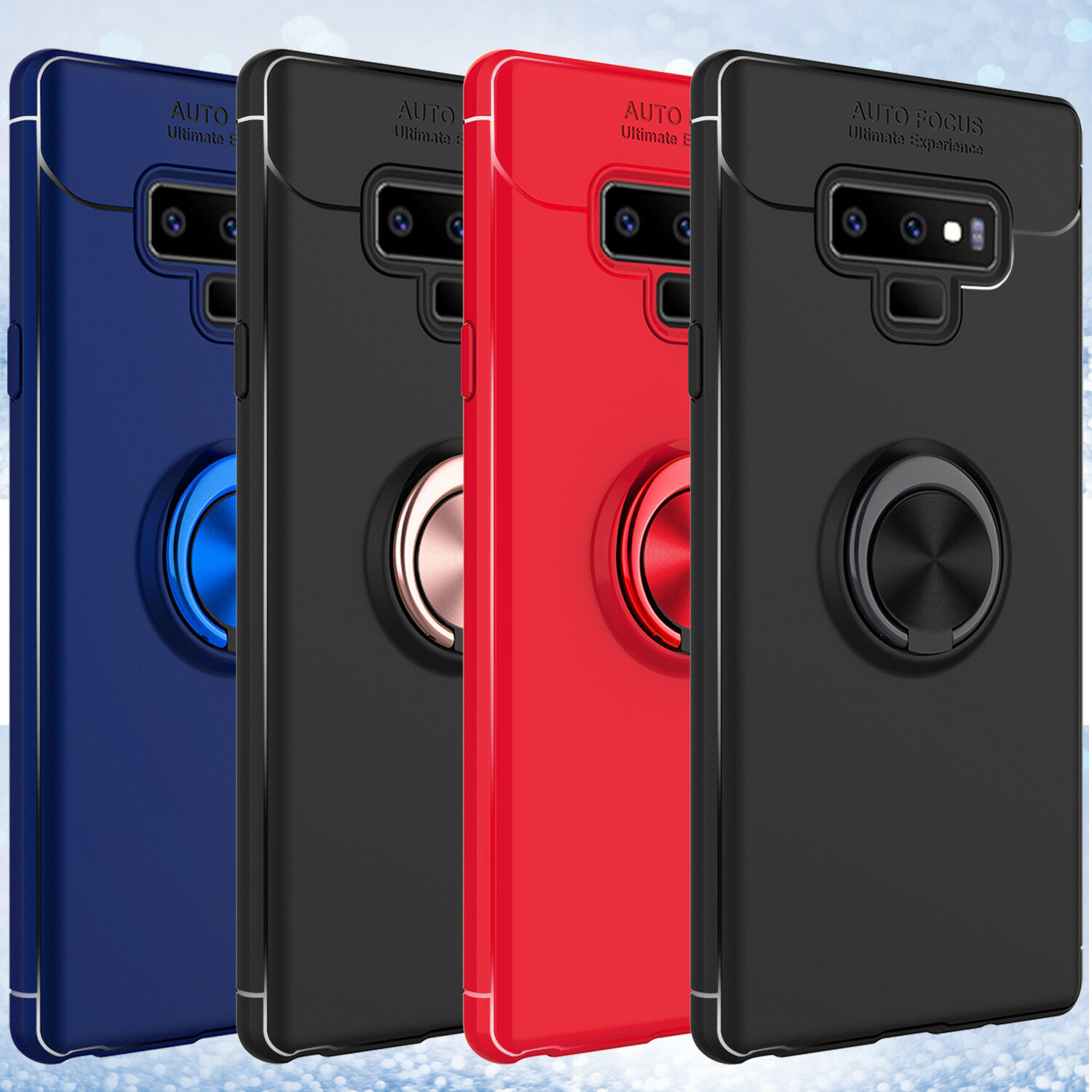 the best attitude 0958c 6eb50 Details about For Samsung Galaxy Note9 Magnetic Ring Holder Shockproof TPU  Armor Case Cover PA