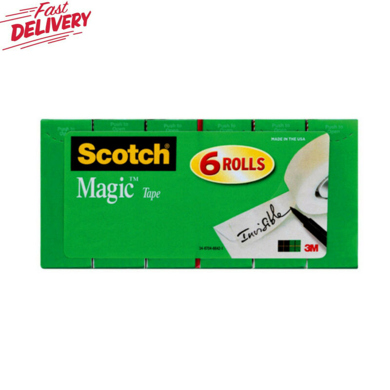 Scotch Magic Invisible Tape Refill 6 Pack 3/4 in x 800 in