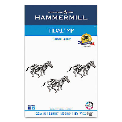 Hammermill Tidal MP Copy Paper 92 Brightness 20lb 11 x 17 White 500 Sheets/Ream