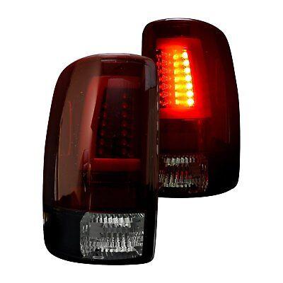 For Chevy Suburban 2500 00-06 Recon Black Red/Smoke Fiber Optic LED Tail (Chevy Suburban Recon Led)