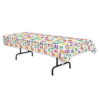 70th Celebration Plastic Table Cover - Birthday Tableware - Party Decorations](70th Birthday Table Decorations)