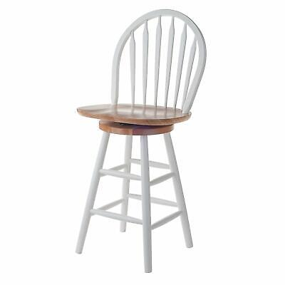 Winsome Wood 24-inch Windsor Swivel Seat Barstool Natural/white