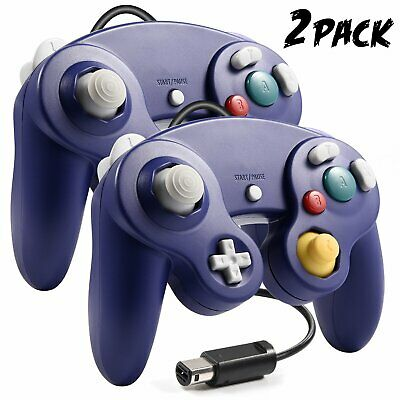 2 Pack Wired Gamecube Controller Gamepad Joystick Compatible for Gamecube & Wii