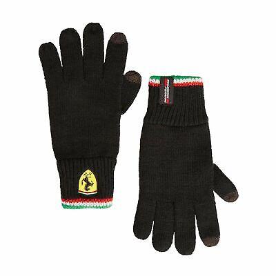 2019 Scuderia Ferrari Knitted Winter Gloves Black F1