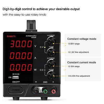 Kaiweets 4-digit Large Display Adjustable Switching Regulated Power Supply