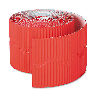 Pacon Bordette Decorative Border 2 14 X 50 Roll Flame Red 37036