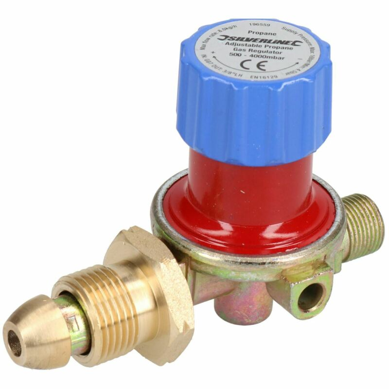 Variable Propane Gas Regulator 0.5 to 4 BAR For Calor Gas Bottles etc SIL215