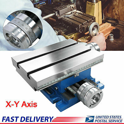 Compound Cross Slide Bench Work Table Milling Machine 2 Drill Vise Fixture