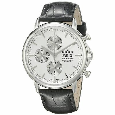 Edox 011203AIN Men's Les Bemonts Silver-Tone Automatic Watch