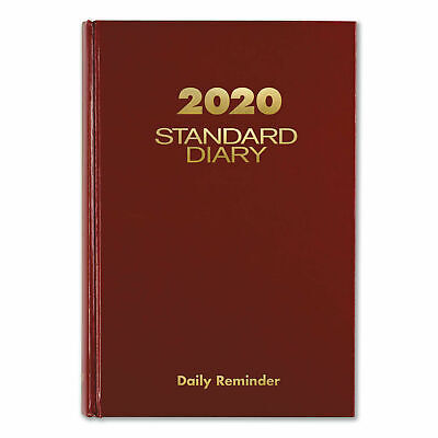 At-a-glance Standard Diary Recycled Daily Reminder Red 8.25 X 5.75 Inches 2020