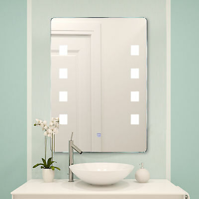 Lichtspiegel Badspiegel LED Spiegel Badezimmerspiegel Wandspiegel 9W 2 Mdoell
