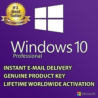 WINDOWS 10 PROFESSIONAL PRO KEY 32/64 BIT ACTIVATION LICENSE KEY