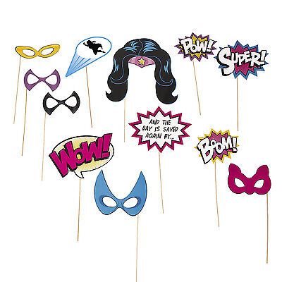 SUPERHERO girl super hero BIRTHDAY PARTY photo booth props WONDER WOMEN - Photo Booth Wholesale
