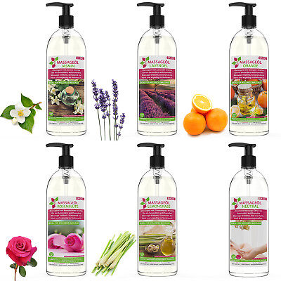 MyThaiMassage Massageöl Aroma Jasmin Orange Zitronengras Lavendel Rose 250ml-5L ()