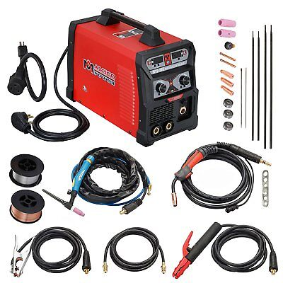 Mts-205a Mig Flux Wire Feed Tig Stick Arc Multi-process Welder Weld Aluminum