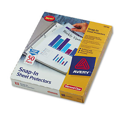 Avery Snap-In Heavyweight Sheet Protector Letter Diamond Clear 50/Box 78706