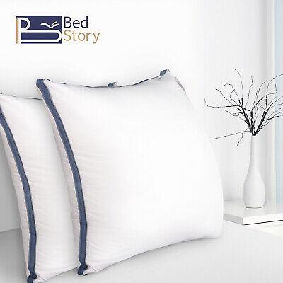 BedStory 2er Kopfkissen Hotel Kissen 3000g 80x80cm Microfaser Weich Stützend Öko