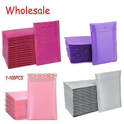 Any Size Poly Bubble Mailers Shipping Mailing Padded Bags Envelopes Color Lot