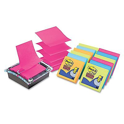 Post-it Super Sticky Pop-up Dispenser Value Pack - 3 x 3 - Assorted New