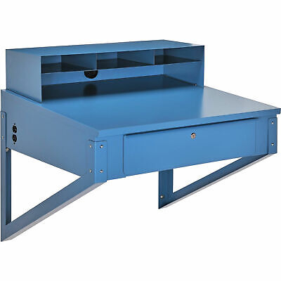Shop Desk Wall Mount 34-12w X 30d X 32-12h Blue