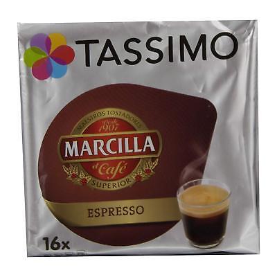 Tassimo Capsulas Marcilla-Espresso-80bebidas- Caja de 5Paquetes x 16Bebid