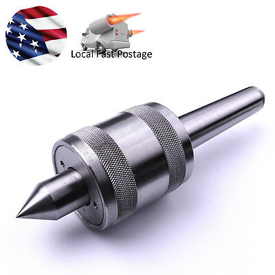 - MT2 Morse Taper Live Center Carbide Bearing CNC 12-28NF Drawbar Thread Us Ship