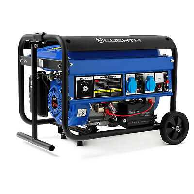 EBERTH 3000 W Generador de corriente électrico Grupo electrogeno Chasis E-Start