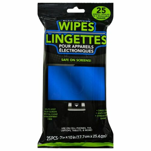 E-Circuit Pre-Moistened Electronics Wipes- PACK OF 25