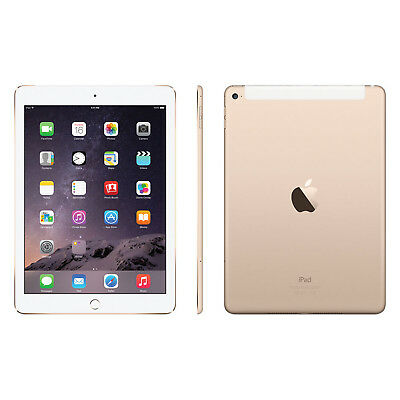 "Usato, New Apple iPad Air 2 32GB 9.7"" Tablet WiFi + Cellular 4G - Gold - UK Model usato  Spedire a Italy"