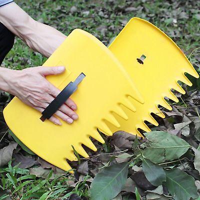 Leaf Scoops Garden Lawn Leaves Grass Hand Rake Scoop Garbage Grabber Tool Pair Garden Hand Rake