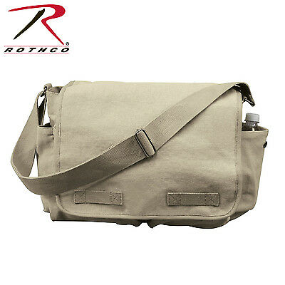 Rothco Vintage Style Washed Canvas Messenger Bag