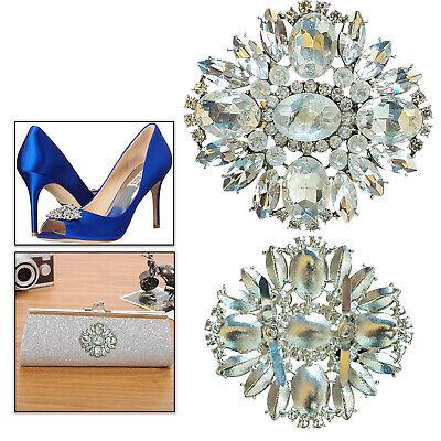 Motivo Cristal Parche Aplique Plateado Brillo Diamante Para Zapatos Bolso