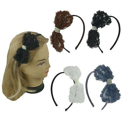 Accessories For Girls (Ribbon Headband Hairband for women Girls Hair)
