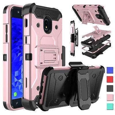 For Samsung Galaxy J7 Crown S767VL Shockproof Hybrid Stand Belt Clip Case Cover