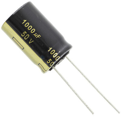 Panasonic Fm Series 105c Electrolytic Capacitor 1000uf 50v Radial Leads