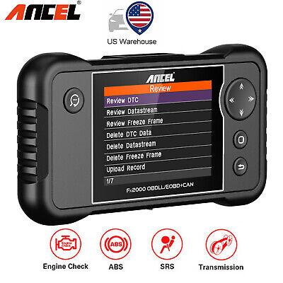 Ancel FX2000 OBD2 Diagnostic Scan Tool Auto Scanner Engine Transmission ABS SRS