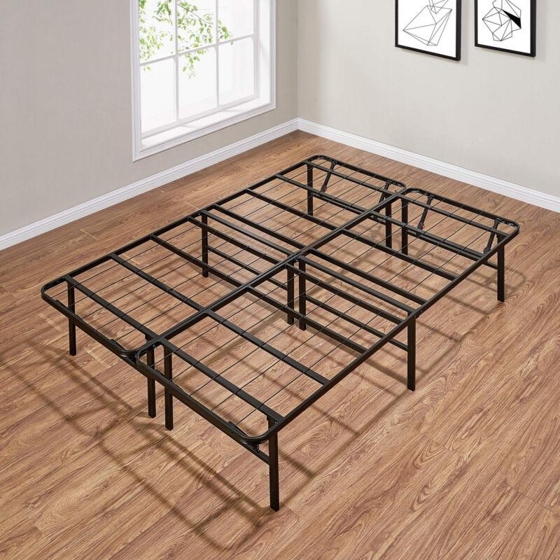 Full Size Platform Bed Frame Metal Heavy Duty 14 Inch Mattress Steel Foundation