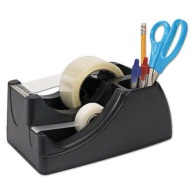 "Officemate Recycled 2-in-1 Heavy Duty Tape Dispenser 1"" and 3"" Cores Black 96690"