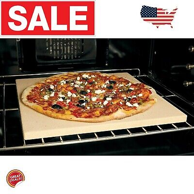 Pizza Stone For Grill Oven Bbq Grilling Accessories Square Pan 15 Baking Bread