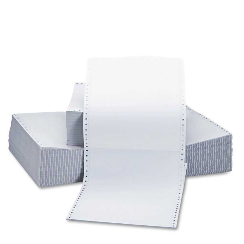 UNIVERSAL Two-Part Carbonless Paper 15lb 9-1/2 x 11 Perforated White 1650 Sheets