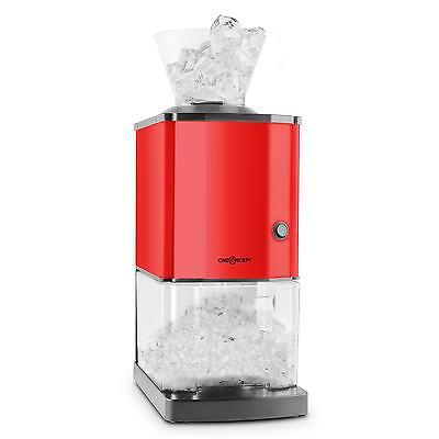 Ice Cube Maker Machine Commercial Crusher Stainless Steel 15kg/h Bar Red 3.5L