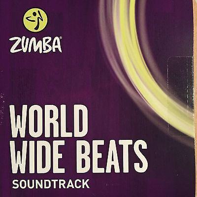 Zumba Dance Fitness World Wide Beats Music Cd  Sounds From Latin   Global Burst