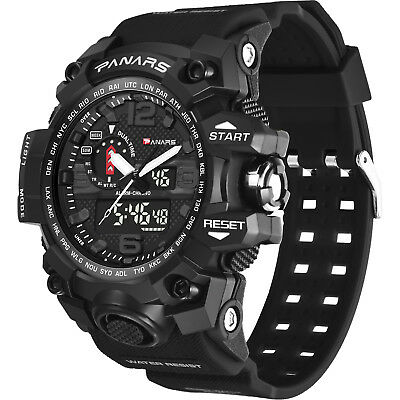PANARS Mens Military Digital Sport Tactical Waterproof LED Backlight Wrist Watch